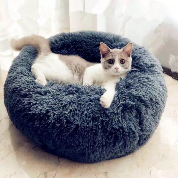 kuscheliges Katzenbett dunkelgrau